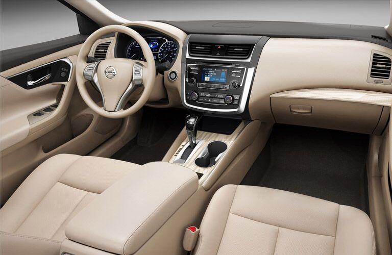 Interior View of 2017 Nissan Altima in Cream