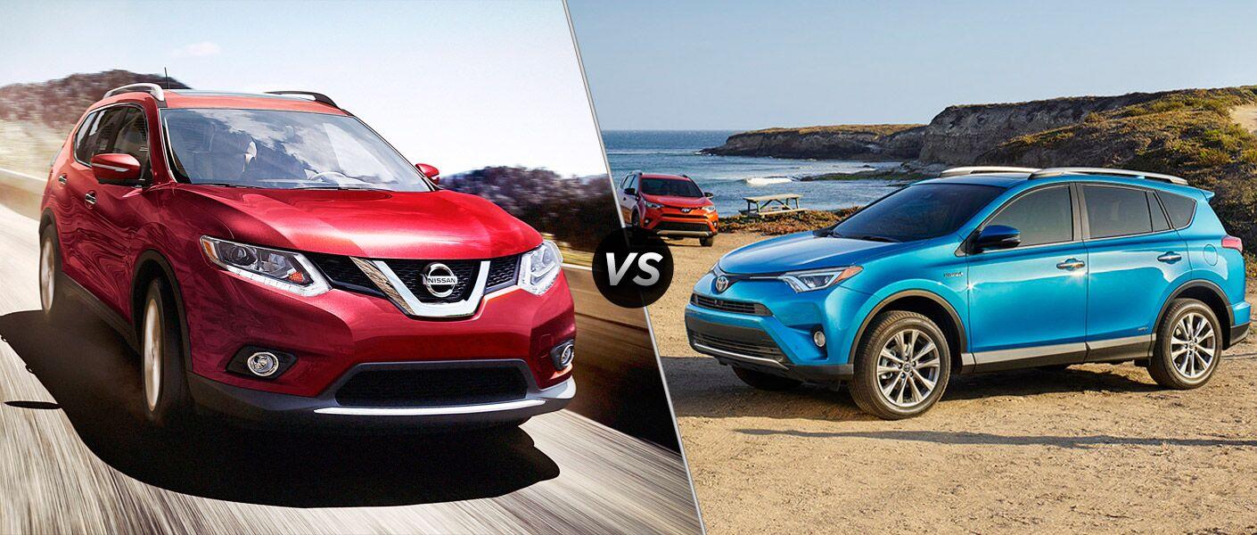 2016 Nissan Rogue vs 2016 Toyota RAV4 Davis CA