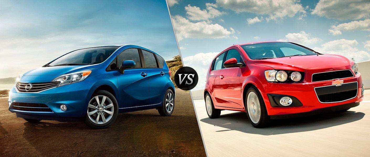 2016 Nissan Versa Note vs 2016 Chevy Sonic Carmichael CA