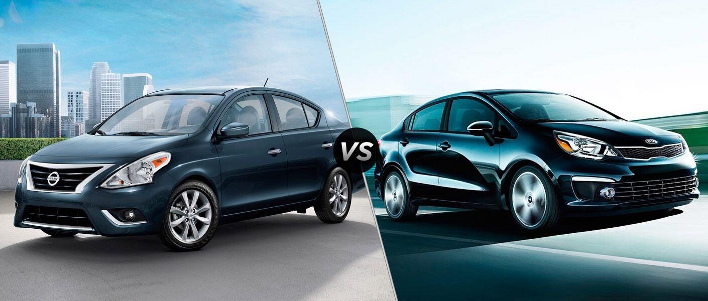 2016 Nissan Versa vs 2016 Kia Rio Carmichael CA