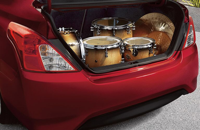 2017 Nissan Versa Sedan Trunk Capacity
