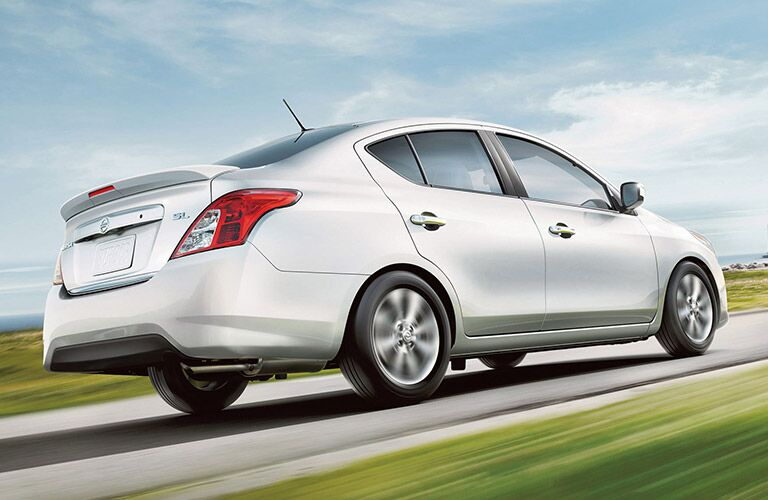 2017 Nissan Versa Sedan Exterior View in Silver