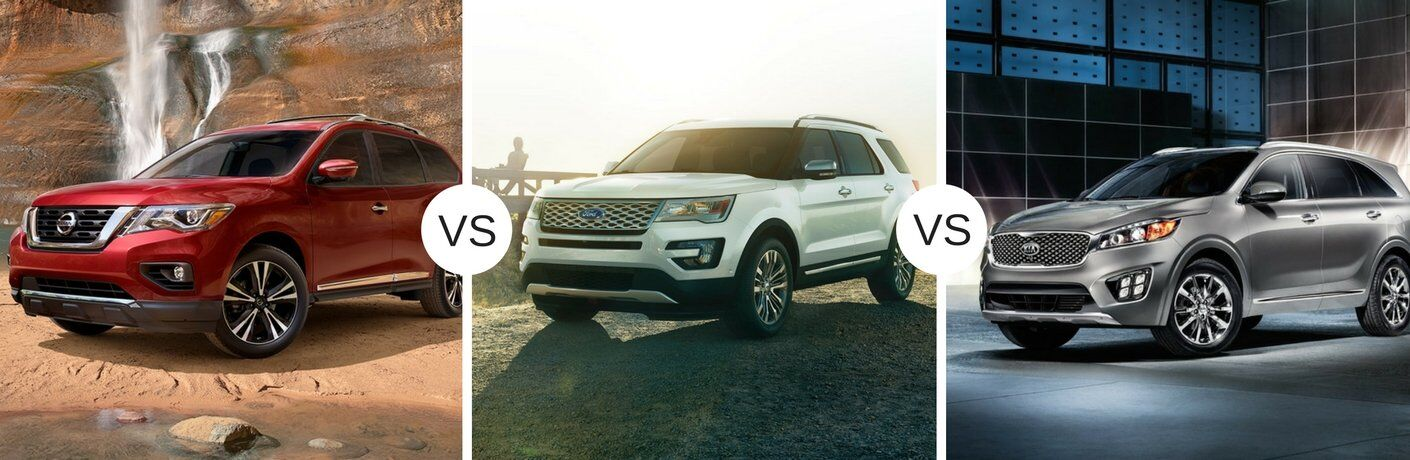 2017 Nissan Pathfinder vs 2017 Ford Explorer vs 2017 Kia Sorento