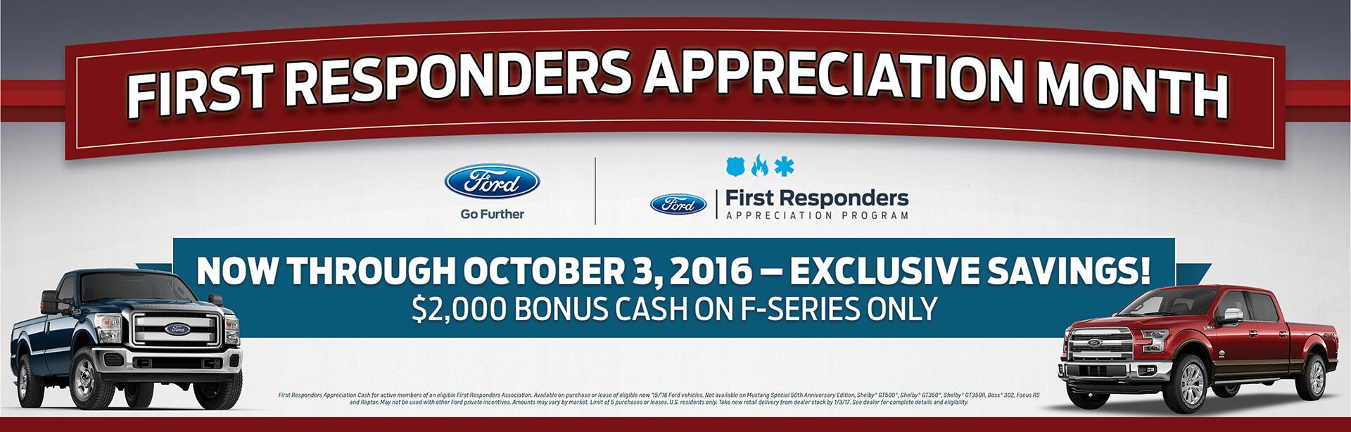 Ford First Responder >> First Responders Appreciation Month 2 000 Bonus Cash On F Series