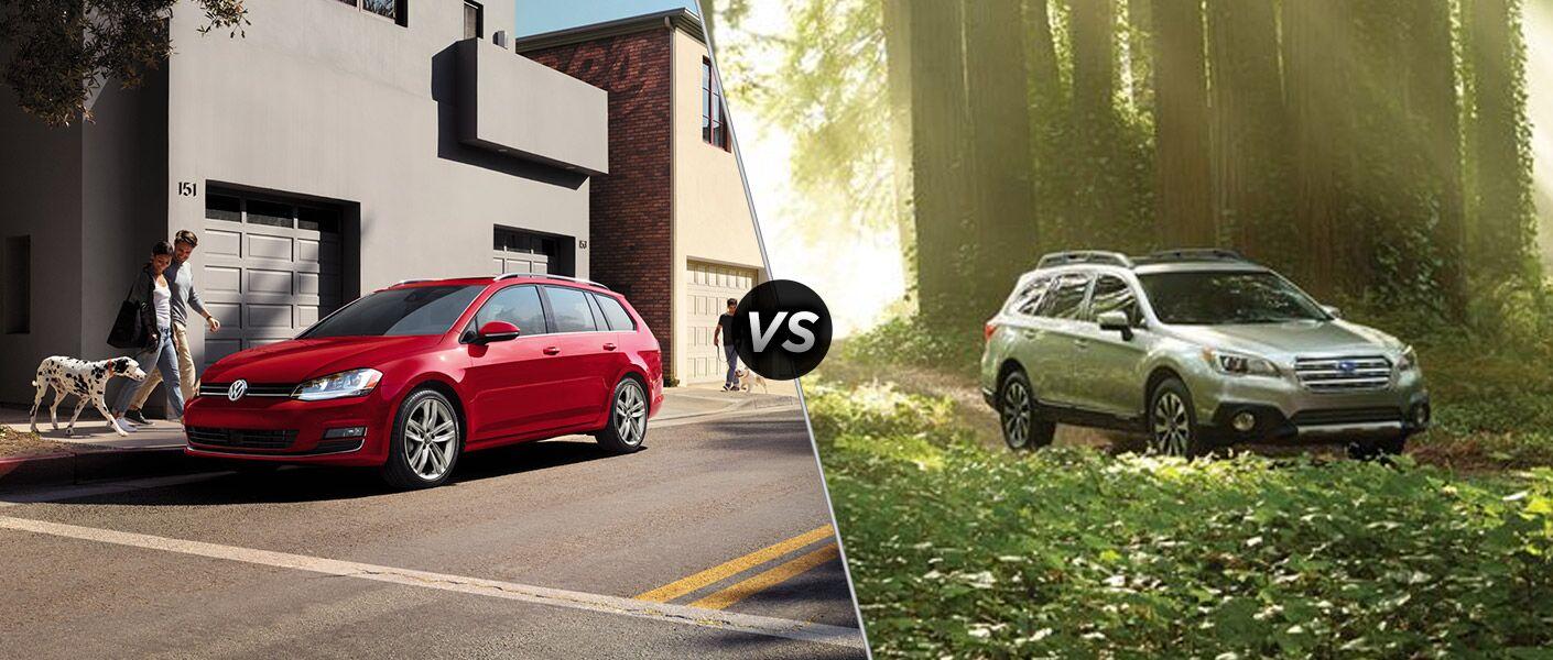 2016 Volkswagen Golf SportWagen vs 2016 Subaru Outback