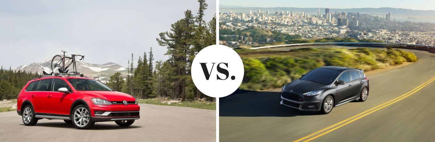 2017 VW Golf Alltrack vs 2017 Ford Focus ST