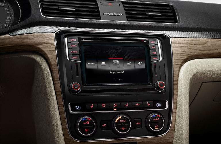 Infotainment of the 2018 Volkswagen Passat