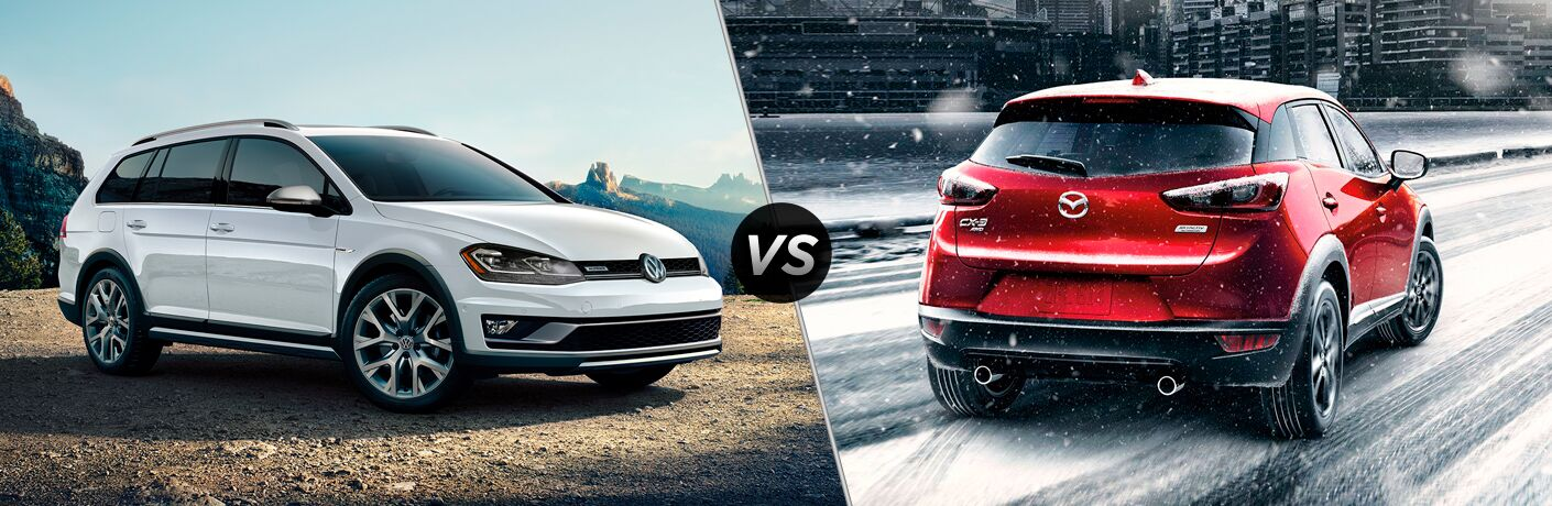 2019 Volkswagen Golf Alltrack vs 2019 Mazda CX-3