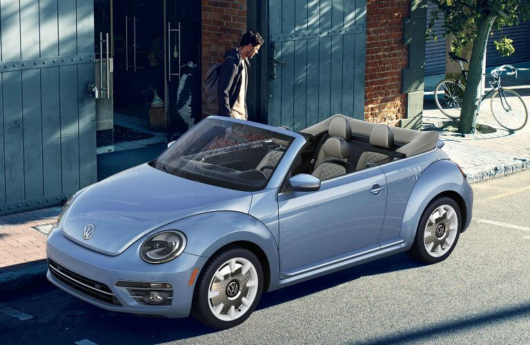 2019 Volkswagen Beetle Convertible parked on a street