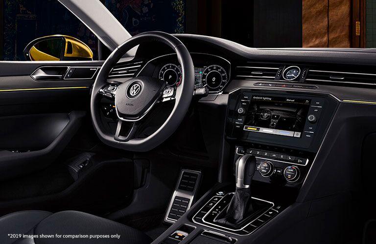 2020 Volkswagen Arteon interior showing dash and steering wheel