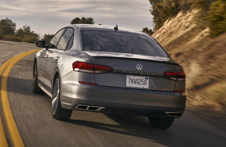 Rear view of grey 2020 Volkswagen Passat