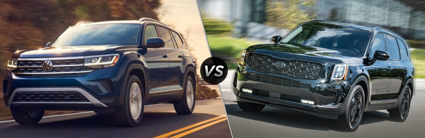 2021 Volkswagen Atlas vs 2021 Kia Telluride comparison image