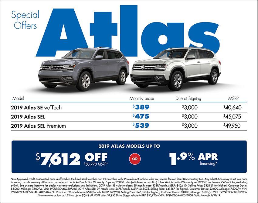 2019 Volkswagen Atlas Sales Special in Seattle, WA