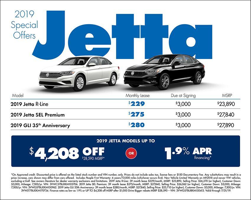 2019 Volkswagen Jetta Lease or Purchase Special in Seattle, WA