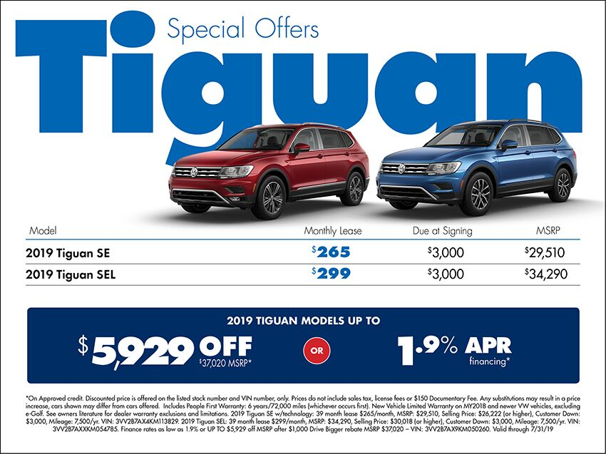 2019 Volkswagen Tiguan Sales Special in Seattle, WA