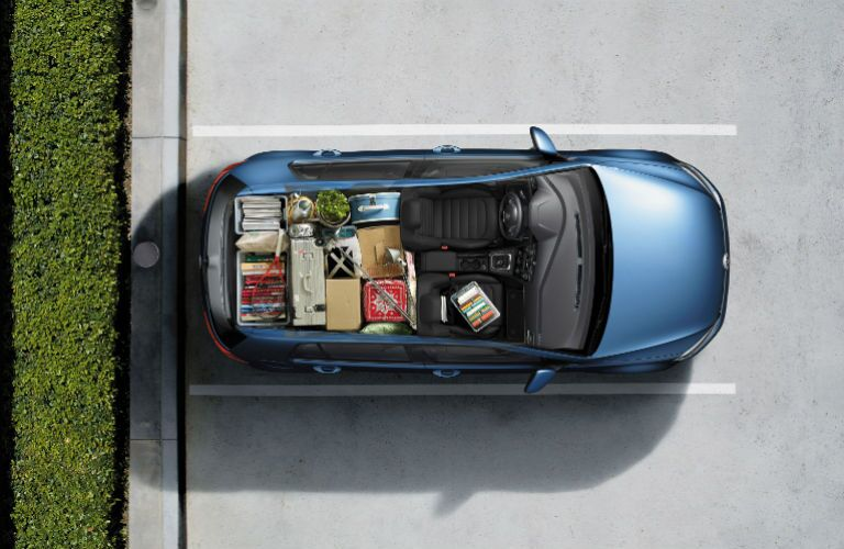 2015 Volkswagen Golf Seattle WA overhead view interior packing cargo area capacity