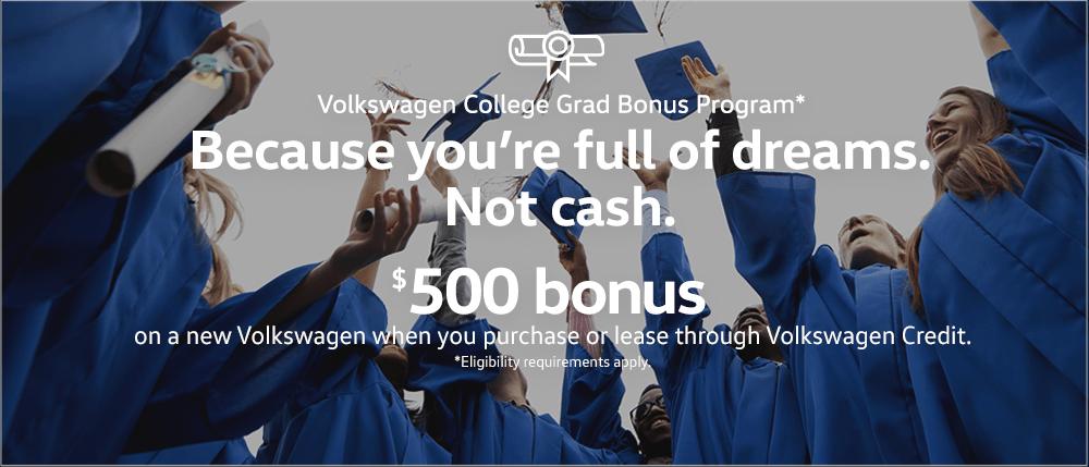 Volkswagen college graduate special el paso, texas