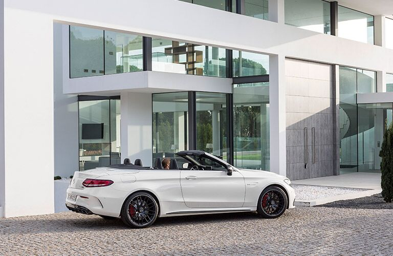 White 2017 Mercedes-AMG C63 Cabriolet Side Profile Exterior