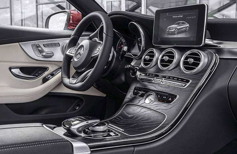 Black 2017 Mercedes-Benz C-Class Luxury Interior