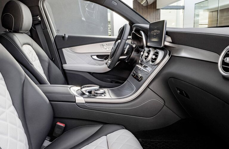 Gray Luxury Interior 2017 Mercedes-Benz GLC Coupe Front Seats