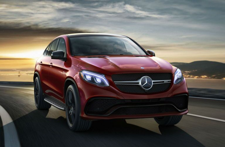 Red 2016 Mercedes-Benz GLE Coupe Front End Exterior
