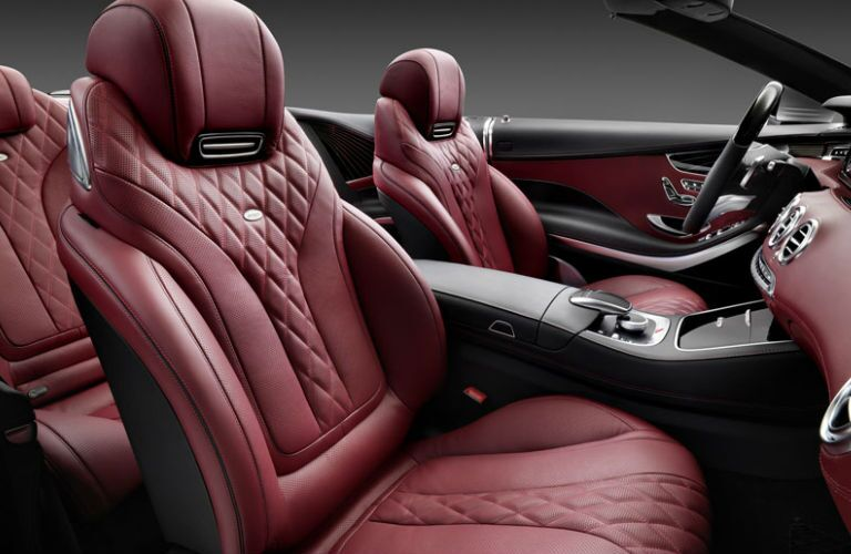 2017 Mercedes-Benz S-Class Cabriolet Luxury Front Seats with Red Nappa Leather