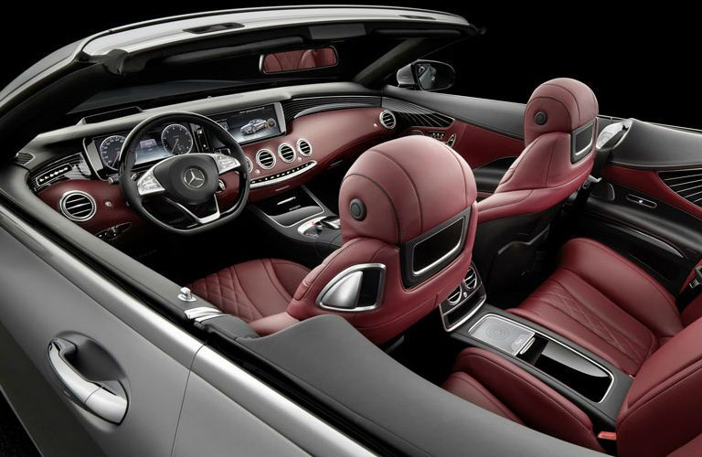 2017 Mercedes-Benz S-Class Cabriolet Red Nappa Leather Seating