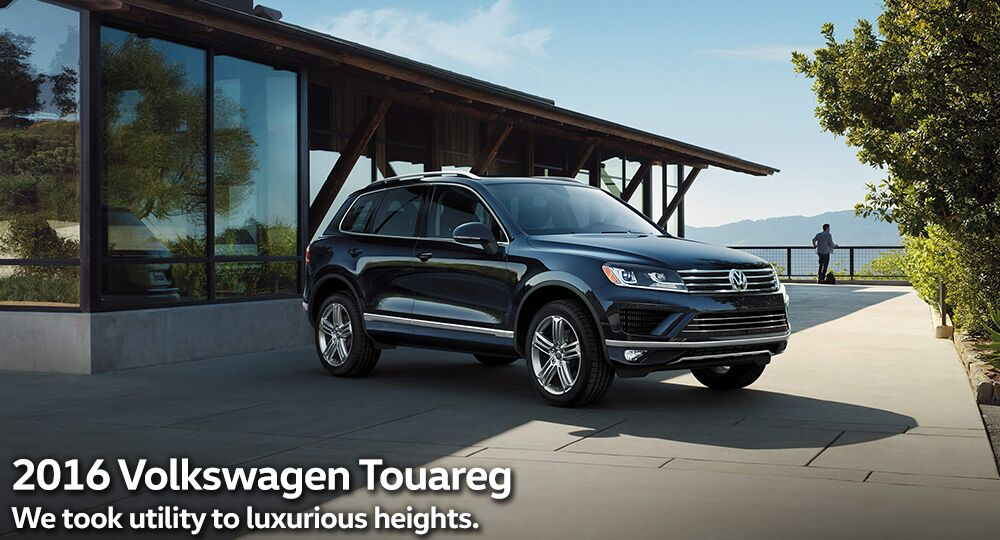 A new 2016 Volkswagen Touareg at Toms River Volkswagen in Toms River New Jersey