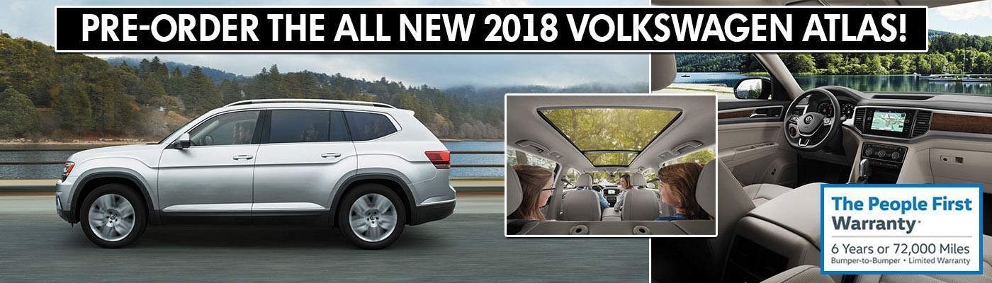 Pre-Order the All New 2018 Volkswagen Atlas at Paul Clark VW!