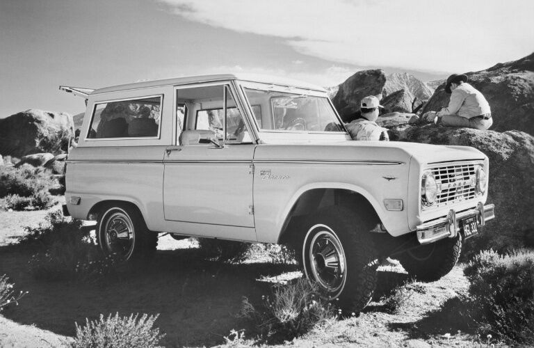 1968 Ford Bronco black and white