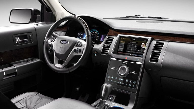 The interior of the 2015 Ford Flex Tampa FL is sleek and sophisticated.