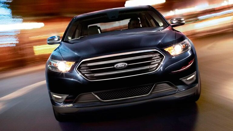 The front end of the 2015 Ford Taurus is aggressive and intimidating!