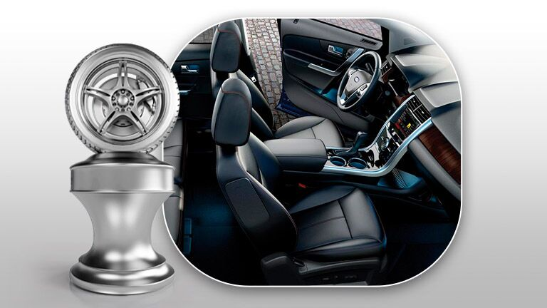 The interior of the 2015 Ford Edge Tampa Bay FL is easy to navigate.