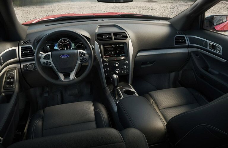 The interior of the 2015 Ford Explorer Tampa Bay FL is streamlined and full of features.