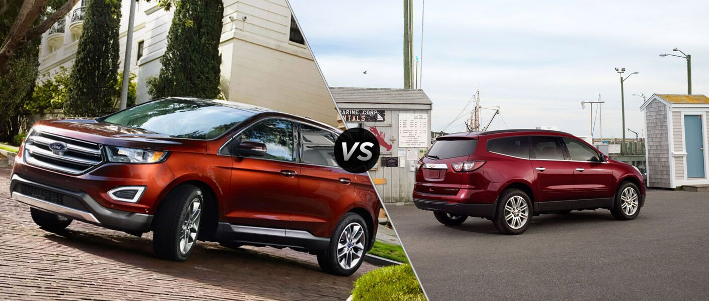 The 2015 Ford Edge vs 2015 Chevy Traverse comparison is interesting and shows off a smiliar style.