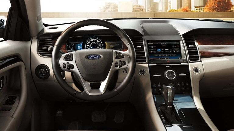 See the sleek interior of the 2015 Ford Taurus Tampa Bay FL today at Brandon Ford!