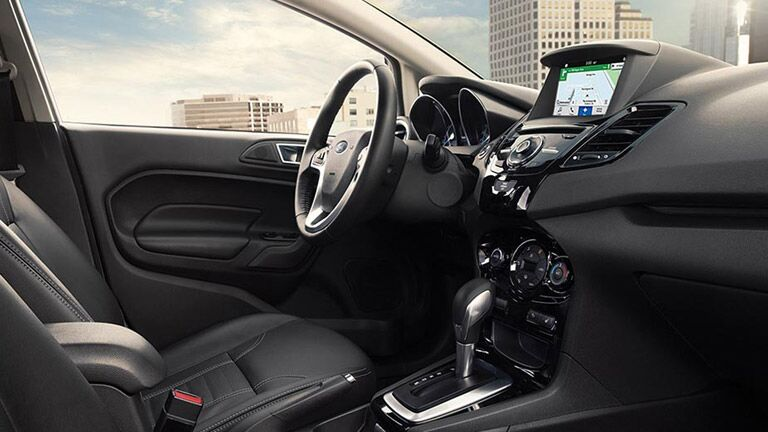 The interior of the 2016 Ford Fiesta Tampa FL is high-tech.