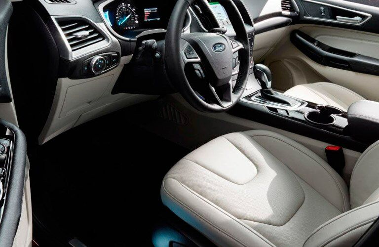 2017 Ford Edge front interior leg room