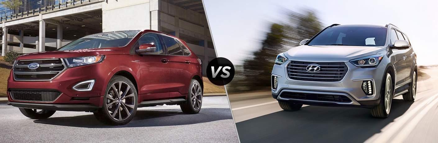 2017 Ford Edge vs 2017 Hyundai Santa Fe