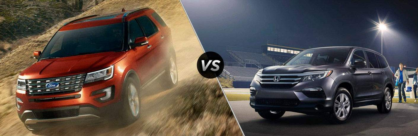 2017 Ford Explorer vs 2017 Honda Pilot