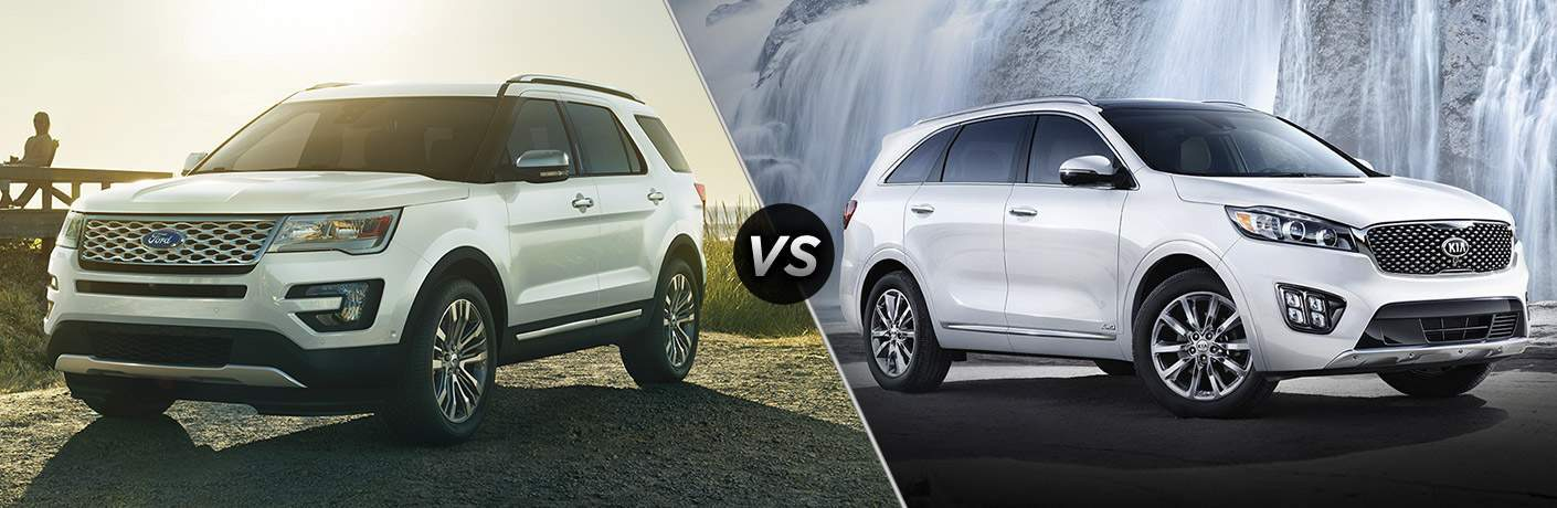 2017 Ford Explorer vs 2017 Kia Sorento