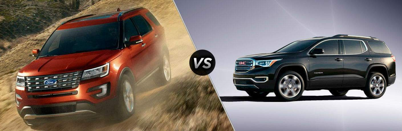 2017 Ford Explorer vs 2017 GMC Acadia