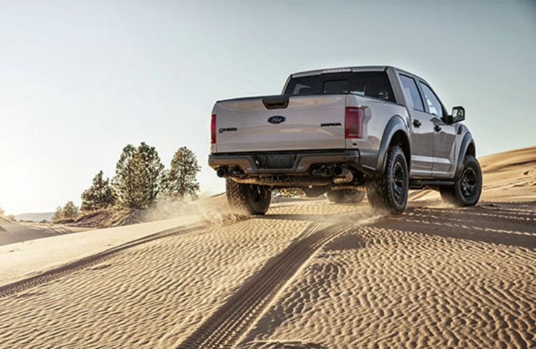 2017 Ford F-150 Raptor making tracks through the sand