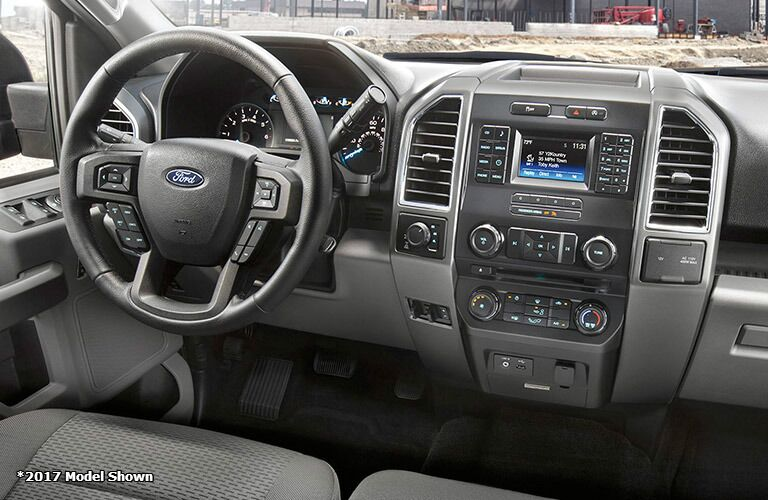2017 Ford F-150 front interior driver dash and display audio