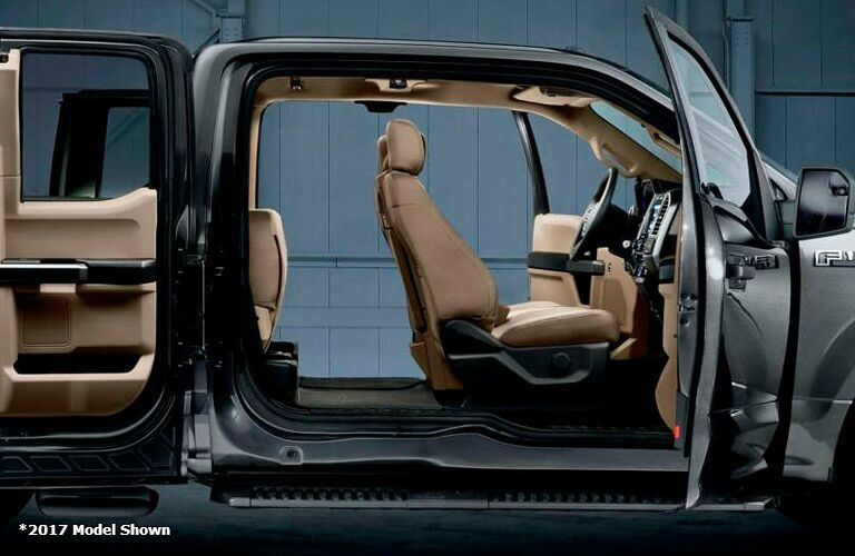 2017 Ford F-150 interior view through doors