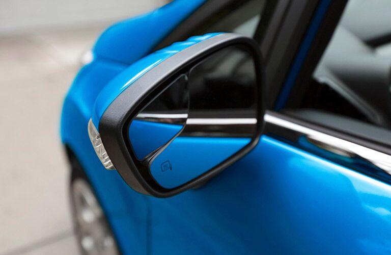 2017 Ford Fiesta blue side mirror