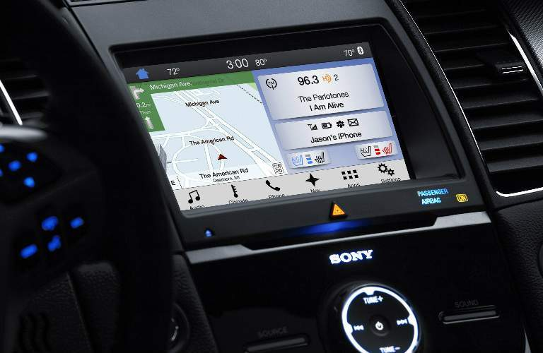 2017 Ford Taurus front interior infotainment system
