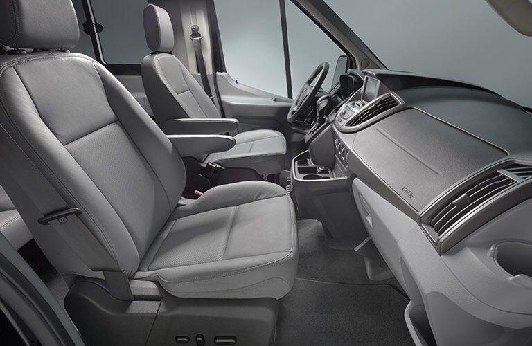 2017 Ford Transit front interior passenger space