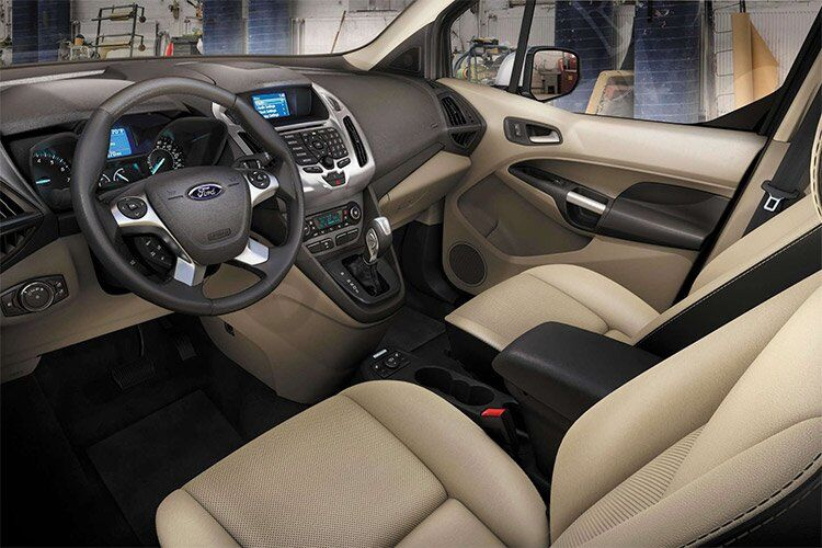 2017 Ford Transit Connect front interior passenger space