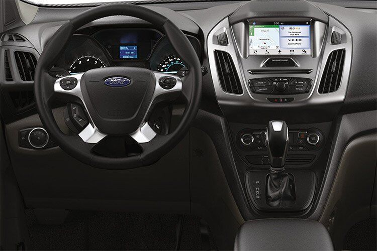 2017 Ford Transit Connect front interior driver dash and display audio